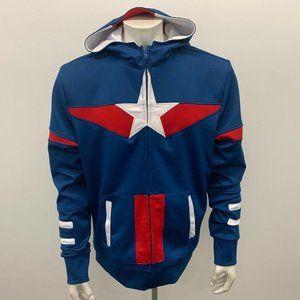 Marvel Avenagers Jacket Men's XL Blue Red Polyeste